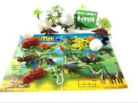 31pc Dinosaur Play Set Jurassic Park Role Animals T Rex Triceratops Toys Gift