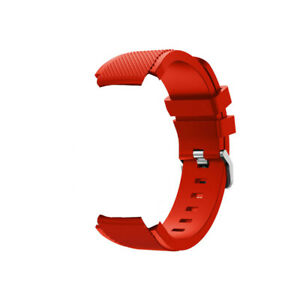 22mm Silicone Watch  Band Watchband Wristband Replacement with Buckle X6U1