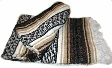 #11 Mexico Striped Bed Blanket Yoga Pilates Mat Throw Cover Curtain Afghan Brown