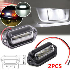 2 PCS LED Trailer Truck Armored Vehicle High Licence Plate Light Pedal Lamps 5W