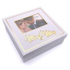 Wedding Gift Mr and Mrs Keepsake Box White and Gold WG1021