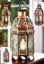 COPPER MOROCCAN CANDLE LAMP ** LED or CANDLE LANTERN  ** NIB