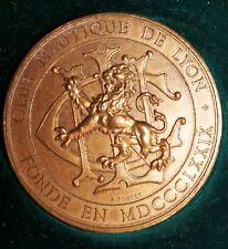 Medaille Club Nautique de Lyon fonde 1879