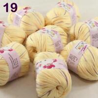 Sale lot 8 Skeins x50g Cashmere Silk Wool Children hand knitting Crochet Yarn 19