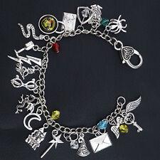 Harry Potter Themed Inspired Charm Bracelet Rowling Hogwarts Glass Star Jewelery