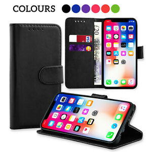 Leather Wallet Flip Magnetic Case Cover Pouch Stand Shockproof For All Phones