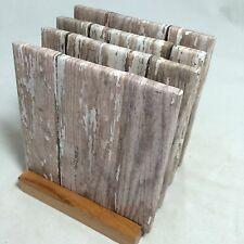 """HANDMADE """"Old Fence"""" Drink Coasters 