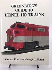 Greenberg's Guide to Lionel HO Trains HC Book 1986 First Edition Rosa Horan