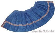 SLOVAK FOLK COSTUME blue embroidered apron ethnic dress SEKULE peasant skirt art