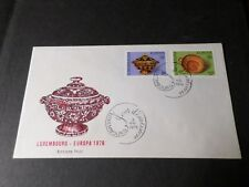 LUXEMBOURG, FDC 1° JOUR EUROPA 1976, MUSEE ETAT, VF