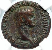 GERMANICUS Authentic Ancient Rome Genuine Roman Coin under CLAUDIUS NGC i83576