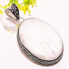 "Scolecite Gemstone Handmade Vintage Fashion Jewelry Pendant 2.4"" Sp3712"
