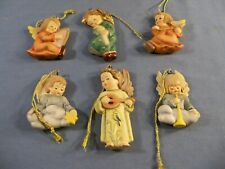 Lot of 6 Goebel Hummel Angel Ornaments Danbury Mint