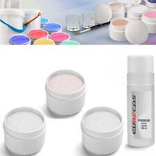 Acryl Puder Acrylpulver ROSE u. WEISS u. KLAR Polymer Acryl Set 3x 30g u. Liquid