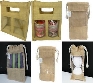 Choice of Jute Eco friendly re useable gift bags