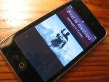 8 Gig iPod Touch - Disabled, sell for parts or repair.