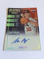 2016 Elite Extra Edition Shane Baz 15/15 Contenders Playoff Ticket Auto Rays 1/1