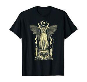 Evil Sphynx Cat Bat Skull Wicca Gothic Goth Witchcraft Witch T-Shirt Black S-5XL