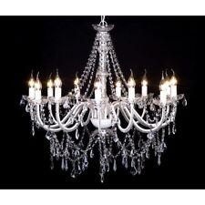 vidaXL Leuchte Kronleuchter Lüster Deckenleuchte Hängelampe Glas 12-flammig