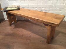 X-Wide 4ft HandMade Reclaimed Pine Beam Solid Wood Dining Bench Light Oak Finish