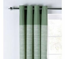 RRP £38.99 ARGOS 90x90 Green Norfolk Eyelet Long Curtains Ring Top Unlined