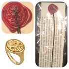 Memento Mori Wax Seal Attached to cord with information card