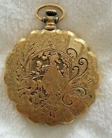 Vintage Gold-Tone Engraved Max Factor Creme Puff Compact, Never Used