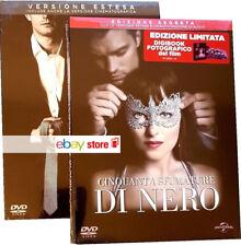 50 CINQUANTA SFUMATURE DI GRIGIO + NERO (2 DVD) EDIZIONI DIGIBOOK FOTOGRAFICO