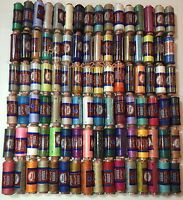 50 Assorted 100% Polyester Sewing Thread By J&P Coats, 50 Spools!