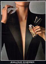 ▬► Parfum Perfume Jean-Louis SCHERRER Original French Print ad Publicité 1989