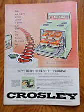 1956 Crosley Kitchen Electric Range Ad  Custom 30