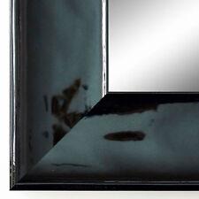 Spiegel Wandspiegel Flur Bad Garderobe Modern Art Deco Taranto Schwarz Lack 7,5