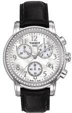 AUTHENTIC TISSOT WOMENS WATCH DIAMOND BEZEL CHRONOGRAPH T050.217.16.112.01 NEW!