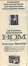 PUBLICITE  1968    HOM   le nouveau mini slip sous vetements homme