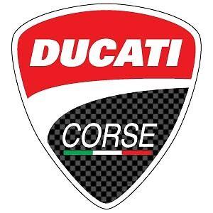 Adesivo SCUDETTO DUCATI CORSE 35 mm Tuning Moto + OMAGGIO!!!