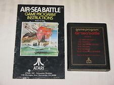 Air-Sea Battle game cartridge for ATARI 2600 w/ instructions