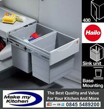 Hailo 36ltr Space Saving Tandem Recycling Waste Bin for 400mm Kitchen Unit