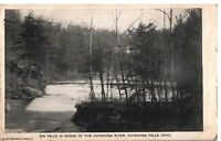VINTAGE POSTCARD BIG FALLS CUYAHOGA RIVER AND FALLS OHIO POSTED 1916