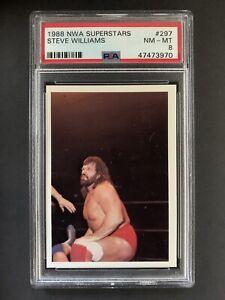 1988 NWA Superstars Dr Death Steve Williams Card PSA 9 #297 Pro Wrestling POP 1