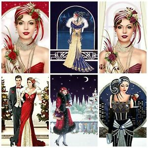 SERENITY  ART DECO  Card Making Toppers, Card Toppers (12)