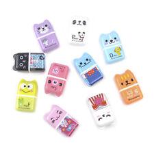 Kawaii Cute Animal Roller Rubber Pencil Eraser Creative Children Stationery New