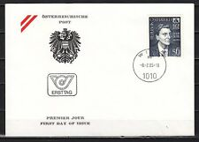 Austria, Scott cat. 1303. Composer Alban Berg issue. First day cover.