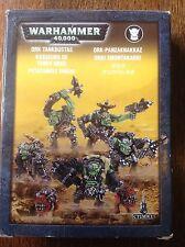 Warhammer 40K. Ork Tankbustas, Nob y squigs. en Caja. Metal fuera.