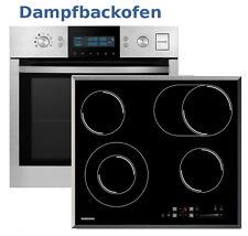 Herdset Autark Samsung Dampfbackofen + Glaskeramik Kochfeld Slider Bräterzone