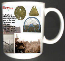 GRASSMOOR COLLIERY COAL MINE MUG GIFT MINERS CHESTERFIELD DERBYSHIRE PIT