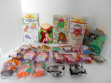 LOT OF 20  1989-2007 McDONALDS HAPPY MEAL TOYS +3 BAGS + 1 FRY AND 1 MEAL BOXES