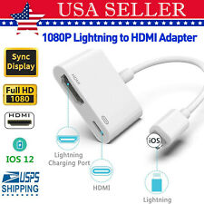 Lighting to HDMI Adapter Cable Digital AV TV 1080P For iPhone 6/7/8 Plus iPad US