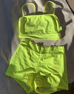 Schminke Neom Dance Wear Rave Wear Yellow Top Shorts