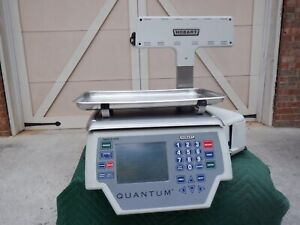 Hobart Quantum1 Grocery Deli Scale-Printer with Tower display readings 29249-BJ