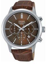 Pulsar Gents Chronograph Leather Strap Watch - PT3739X1 PNP